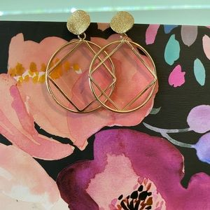 Gold Deco Earrings from Anthro
